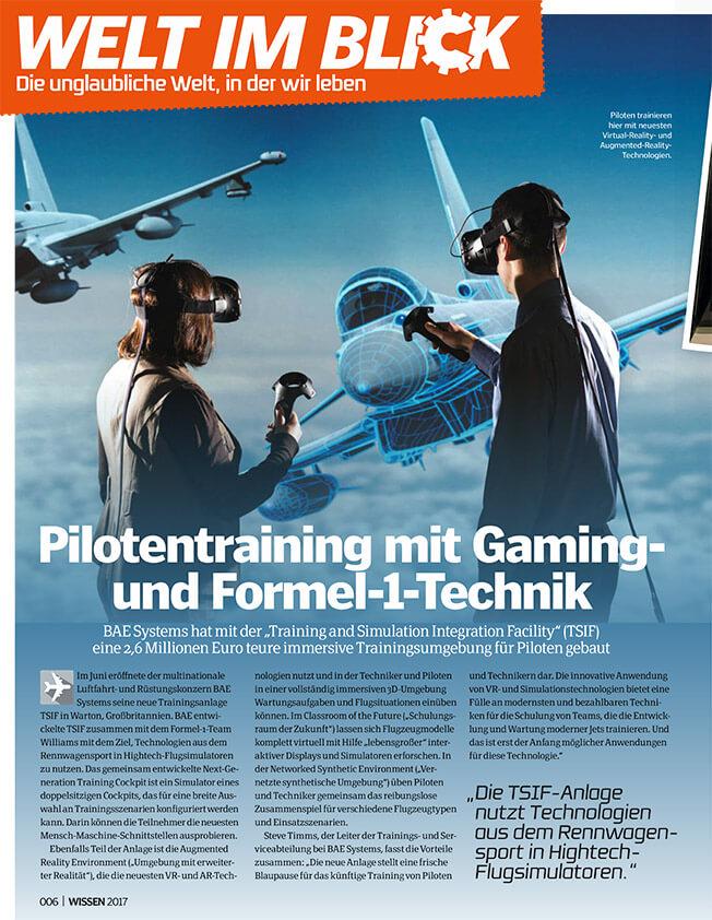 PILOTENTRAINING MIT GAMING UND FORMEL-1-TECHNIK