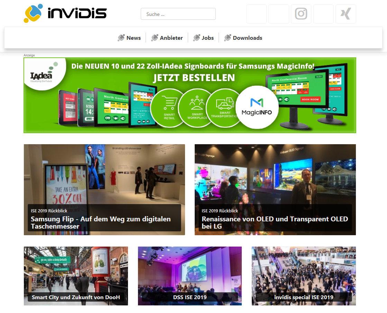 invidis Website