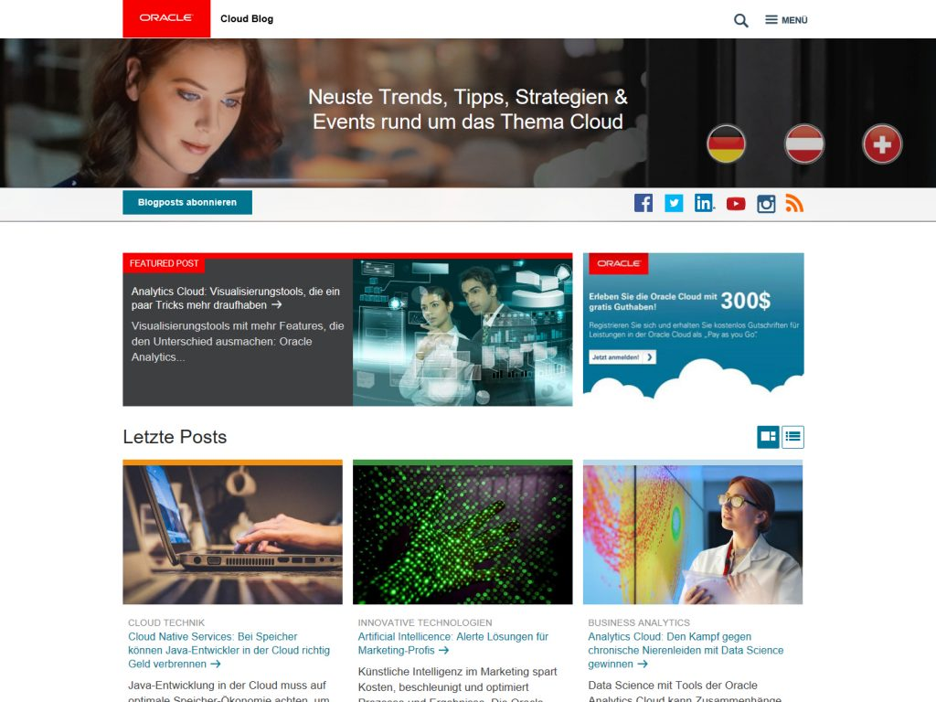 Oracle Cloud Blog